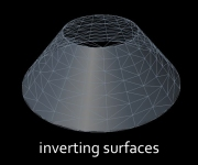 inverting surfaces text